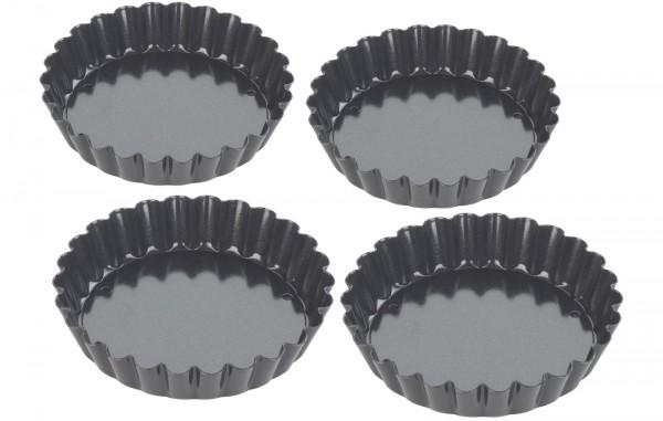 Wähenform 4 Stk., Ø 10 cm, H: 2 cm, Antihaft