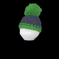 Eierbecher Mütze grau/grün