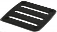 Topfuntersetzer schwarz, 17.8x17.8 cm