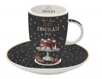 Hot Chocolate 2er Set Espressotassen m. Unters. in GB, 50 ml