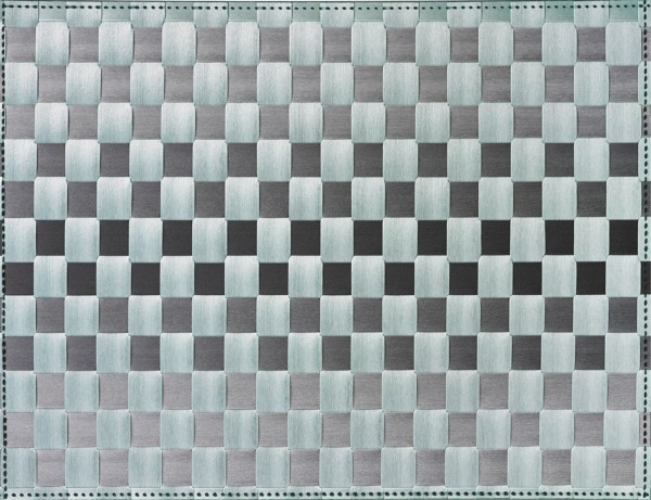 PP-Tischset gewebt, eckig, mandelgrün gestreift, 30x40 cm