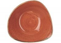 Stonecast Orange Triangel Teller tief 23.5cm