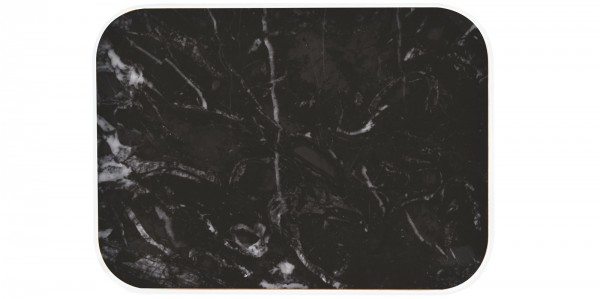 Osmos Tablett Marmor Optik/schwarz 40×30×1.1 cm