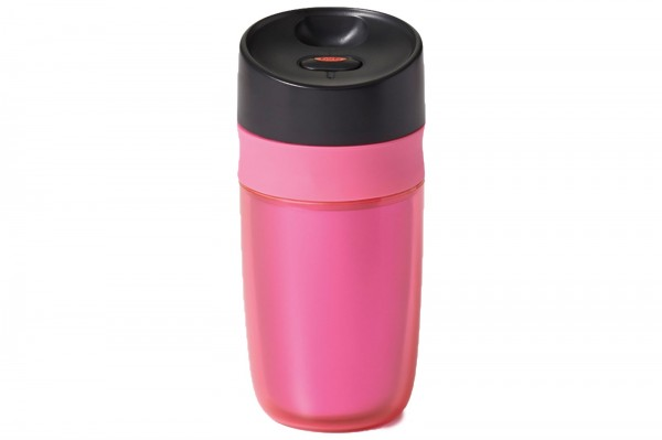 Single Travel Mug doppelwandig, pink, 0.28 lt