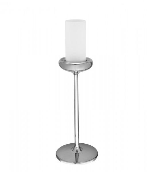 24x Kerzenhalter Edelstahl mit Glas Ø115mm h:270mm