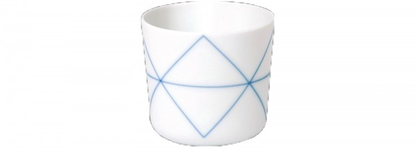 Seven Tasse klein Dekor Geometric Blue