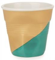 Espresso Knitterbecher 8 cl, White Twist - grün unten