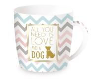 """Coffee or Tea Porzellanbecher in GB """"Dog"""", 350 ml"""