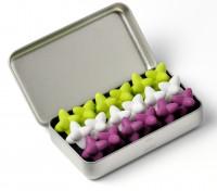 Craggles Geschenkbox - weiss & violett & lime