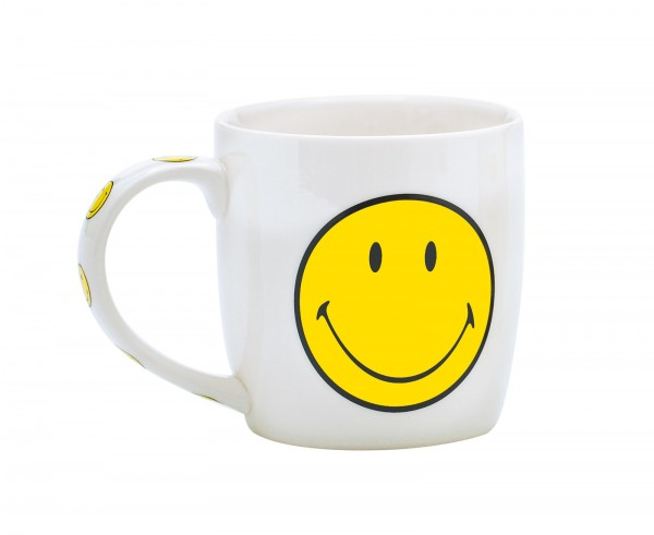 Smiley Porz. Mug in GK, weiss/gelb 35 cl