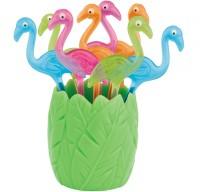 Picks Flamingo farbig assortiert 8tlg.