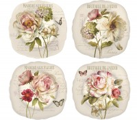 Fleurs 4er Set Dessertteller Ø20 cm in GB