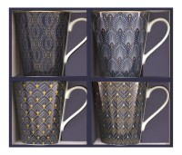 "Coffee Mania 4er Set Kaffebecher in GB, ""Blue"",300ml"