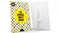 Smiley Karte mit Ständer, bunt 21x29.7 cm