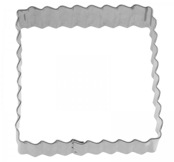 """3 Stk. Terrassen-Ausstechformen """"Quadrat gewellt"""", 4/5/6 cm"""