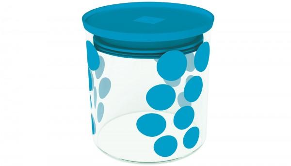 Dot Dot Vorratsdose S aqua blau, 0.65 lt
