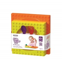 Lego 4-tlg. Geschenkset, orange/gelb/violett/rot