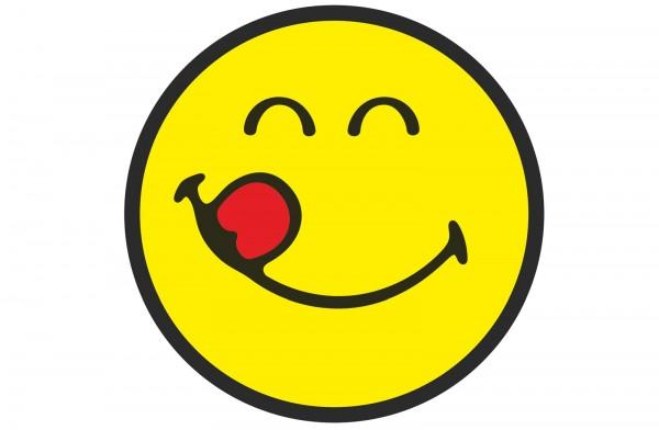 Smiley Sticker, Emoticon yummy Ø30 cm