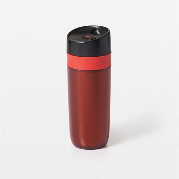 Travel Mug doppelwandig, rot, 0.45 lt