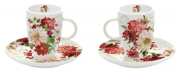 Season Flowers Espressotassen 2er Set 50 ml in GB