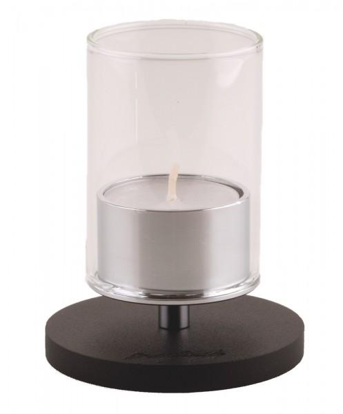 Kerzenhalter iNORAMA 100, D:7.5cm schwarz, ohne Glaszylinder