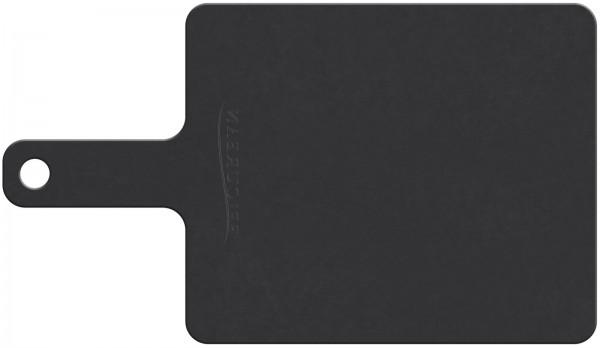 Schneidebrett mit Handgriff schwarz 23x18 cm