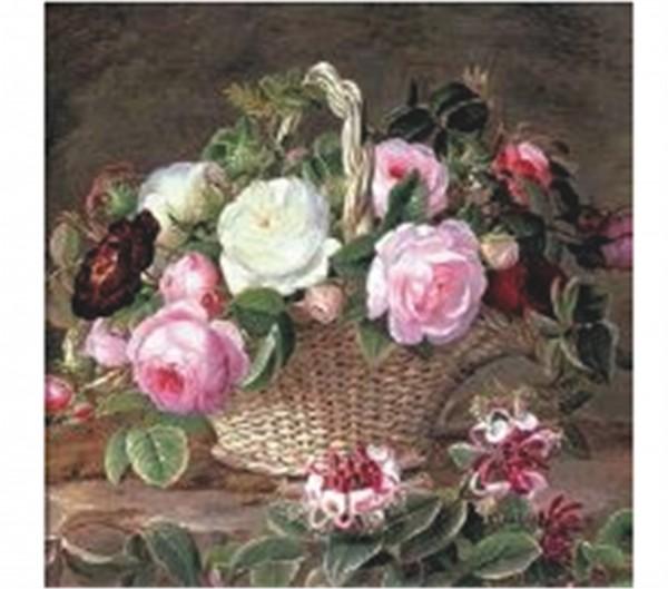 Bouquet Naturel Servietten 20 Stk. 33x33 cm