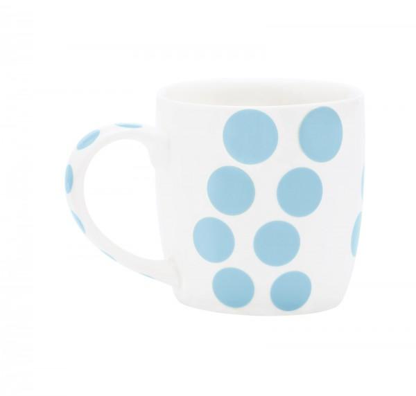 Dot Dot Porzellan Mug, blau, 35 cl