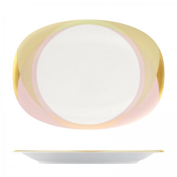 Fluen Platte oval L: 32cm Shifting colors
