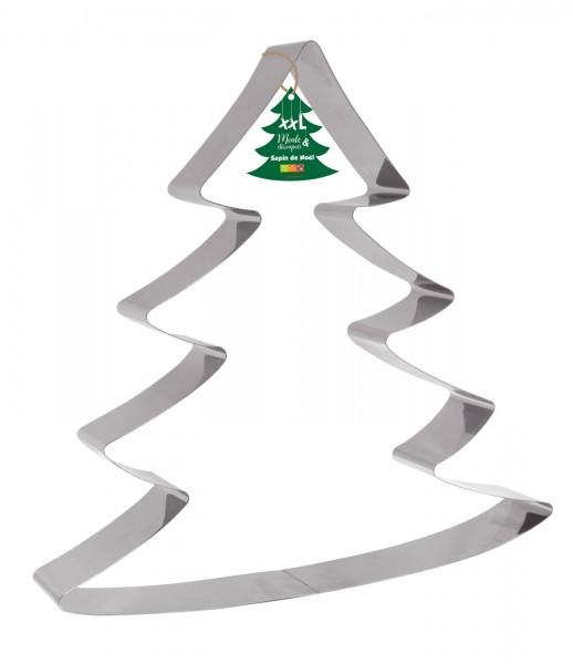 "Edelstahlbackform/Ausstechform XXL ""Weihnachtsbaum"", 30x31cm"