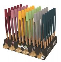 Pebbly Display mit magn. Zange 36 Stk. assortiert 18x29x6.5