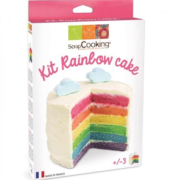 Set Regenbogen Cake mit 4 Farbpulver