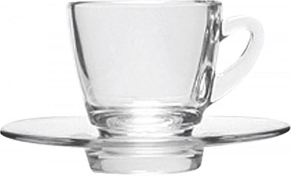 Kenia Glas Kaffee Untertasse 15cm