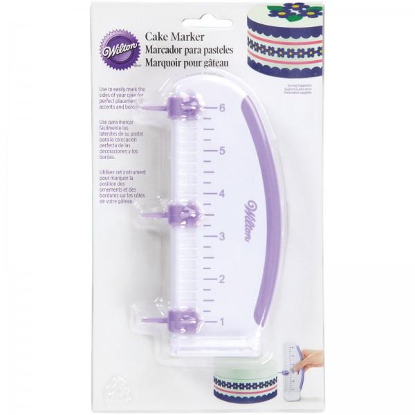 Kuchenmarkierer verstellbar, weiss/violett, 17x7 cm