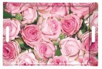 Roses Tablett m. Griffen 40x27 cm