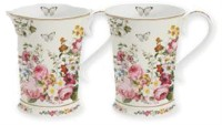 Blooming opulence 2er Set Porzellanbecher, 270 ml
