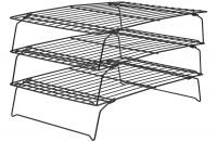 Auskühlgitter 3-stufig, 40x25 cm, Antihaft