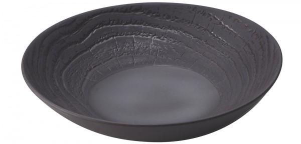 Suppenteller rund, H: 5.7 cm, Ø 24.2 cm, Lakritze