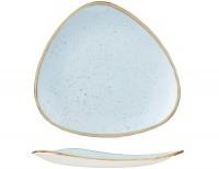 Stonecast Duck Egg Hellblau Triangel Teller flach 31.1cm