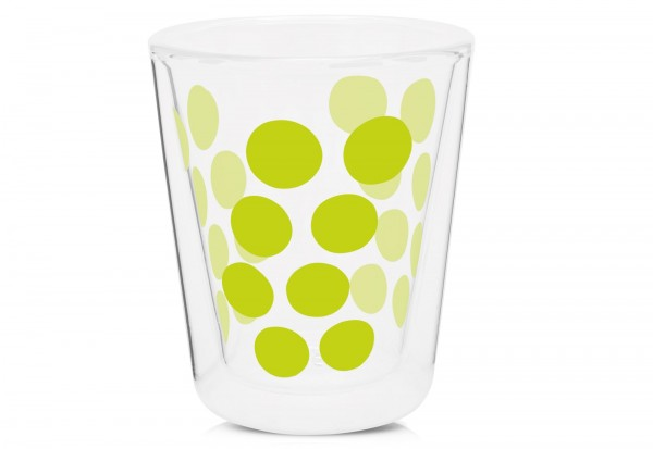 Dot Dot Kaffeeglas grün, doppelwandig 20 cl