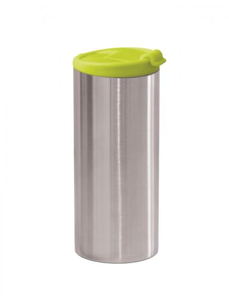 Thermobecher grün, doppelwandig 35 cl