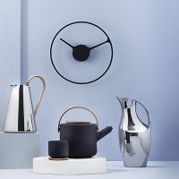1x Stelton Classic Time Uhr schwarz 22cm