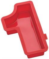 Zahlen Backformen Nummer 1, rot