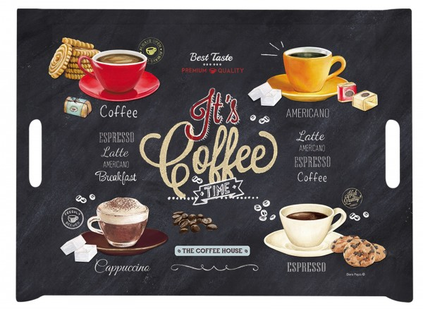 It's coffee time Tablett m. Griffen 46x32 cm