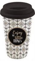 "Coffee Mania Becher m. Deckel in GB ""Little Things"", 350 ml"