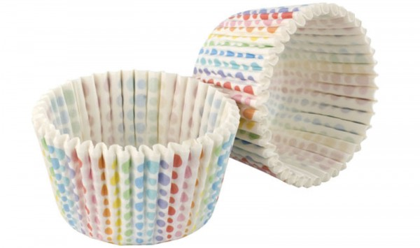 "Cupcake Formen ""Rainbow"", weiss, 32 Stk."