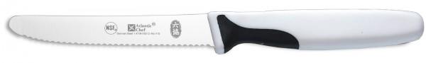 Atlantic Chef Universalmesser rundes Ende 11cm weiss
