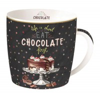 Hot Chocolate 2er Set Porzellanbecher in GB, 350 ml