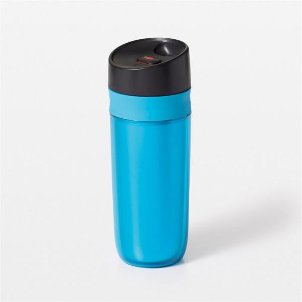 Travel Mug doppelwandig, blau, 0.45 lt