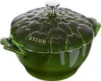 Cocotte 22 cm, Artischocke, Basilikum-Grün, Gusseisen